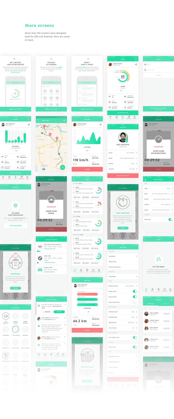 Autobud - Real time tracking and driving alerts on Behance