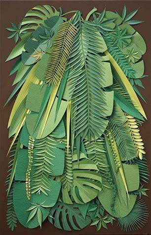 Leafy paper art