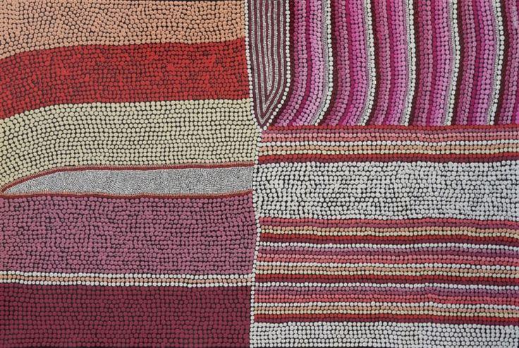 Land Lines - By the Sea, Amanda Conway-Jones 89x59 cm   #AboriginalArt
