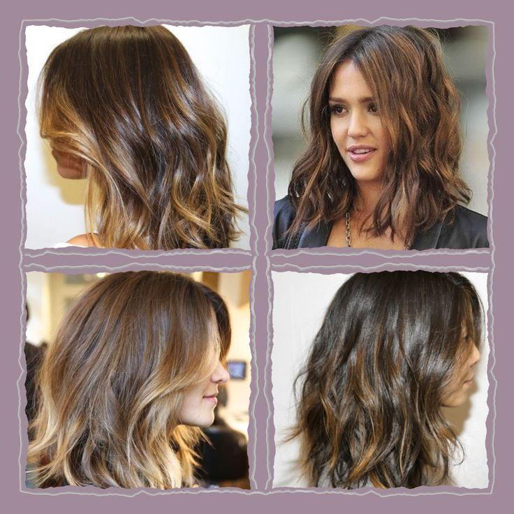 Hair ideas, mid length brunette ombré