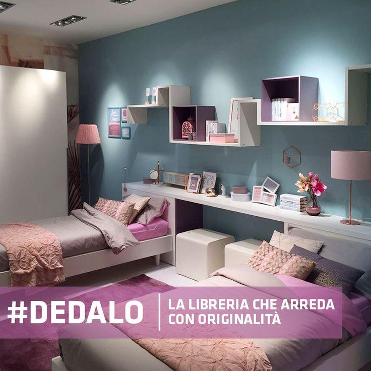 Per #arredare la parete, al posto della solita #mensola, una composizione con #libreria Dedalo, componibile all'infinito!