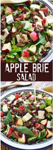 Apple Brie Salad Author: Cathy Trochelman Prep time: 10 mins Total time: 10 mins Serves: 8-10 Ingredients 1 bag (5-6 oz.) mixed greens 4 oz....