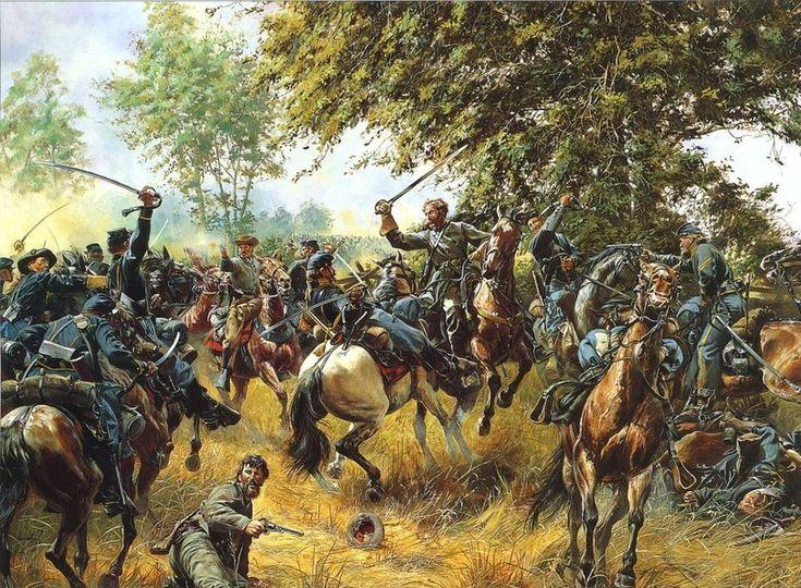 Уэйд Хэмптон в бою 3 июля, Геттисберг
