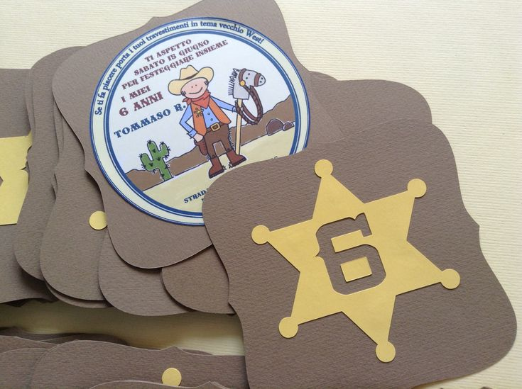 Inviti per festa a tema cowboy - Cowboy party invitation - Thanks to Carolyndraws!!