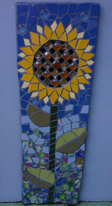 Sunflower mosaic by Helen McNab.