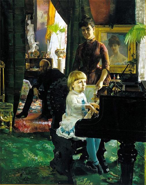 Gallen-Kallela, Akseli (1865-1931) - 1886 The Neovius Family Oil on canvas.