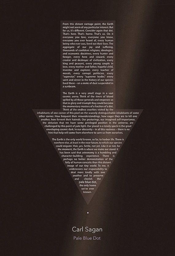 Carl Sagan Pale Blue Dot Poster (8x10, 11x14, 11x17, or 13x19)