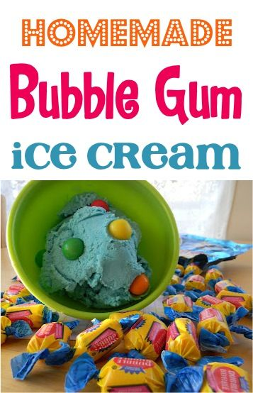 Homemade Bubble Gum Ice Cream Recipe! ~ at TheFrugalGirls.com #icecream #recipes