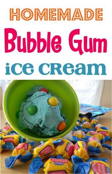 Homemade Bubble Gum Ice Cream Recipe! ~ at TheFrugalGirls.com #icecream #recipes