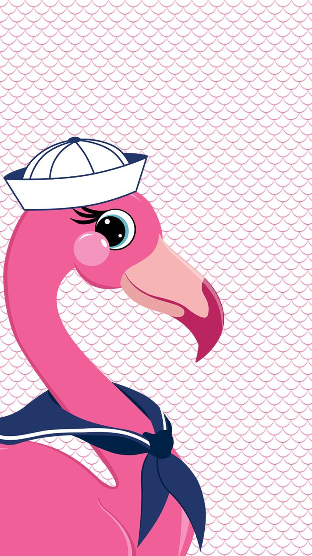 flamingo sailor iphone wallpaper free download