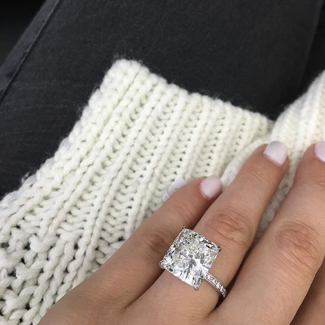 17 Best ideas about Square Engagement Rings on Pinterest | Square wedding  rings, Dream engagement rings and Princess cut wedding rings