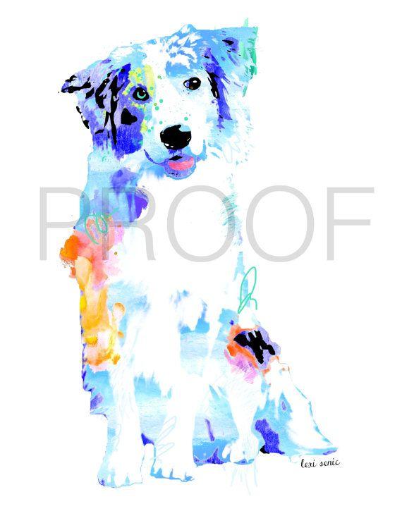 // Australian Shepherd || Jacks the Aussie || Dog Art  by freeinthelines