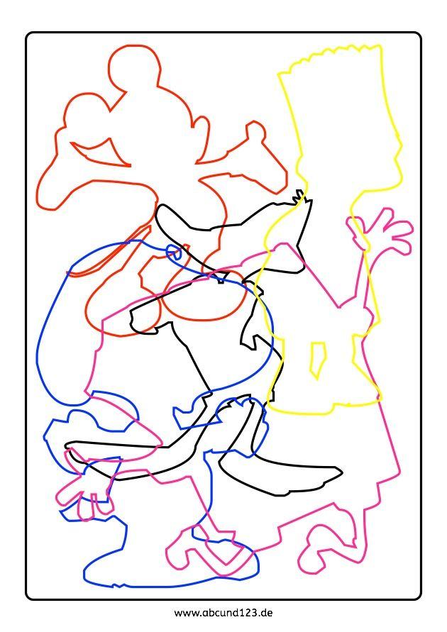Cartoonfiguren, Nachfahren, Weihnachten, Legasthenie, Legasthenietraining, AFS-Methode, Koujou, Stephany Koujou, Wahrnehmung, Aufmerksamkeit, Download, nachfahrmaterial