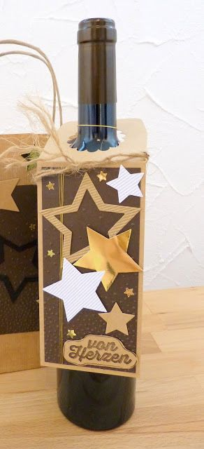 Stempelitis, Flaschenanhänger, Weihnachten, Sterne, Stampin up