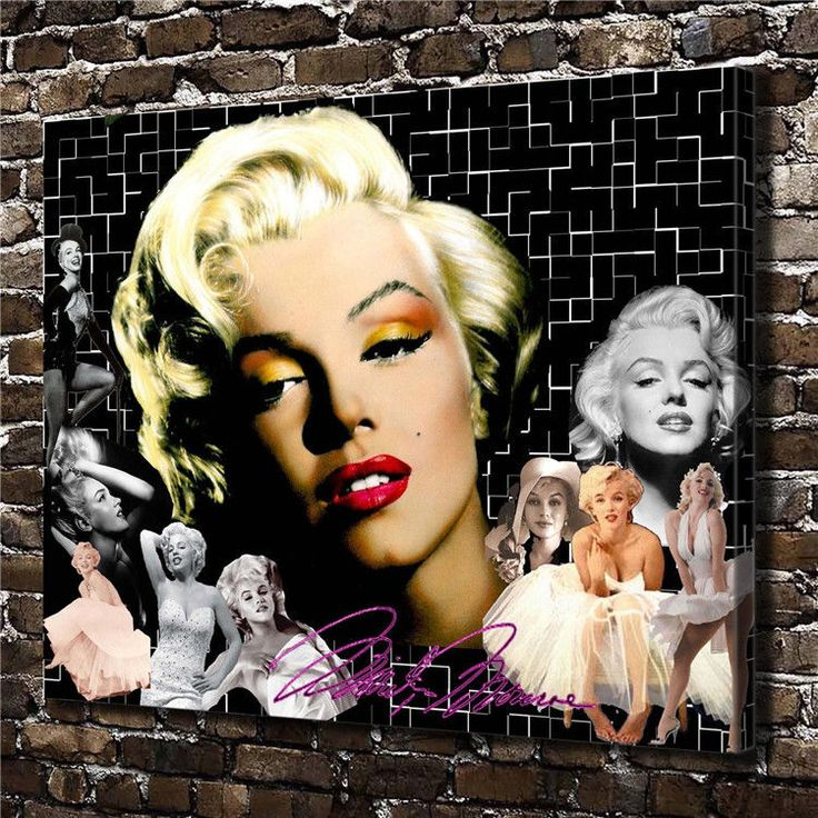 Canvas Hd Picture Print Art Painting Home Decoration, Marilyn Monroe 20''X24''