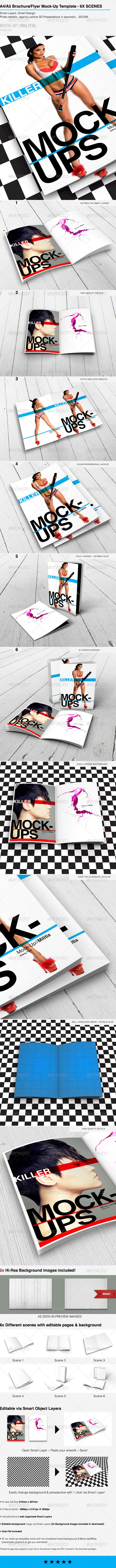 A4 Mock-Up Template - Brochure | Flyer Mock-Up | Download: graphicriver.net/...