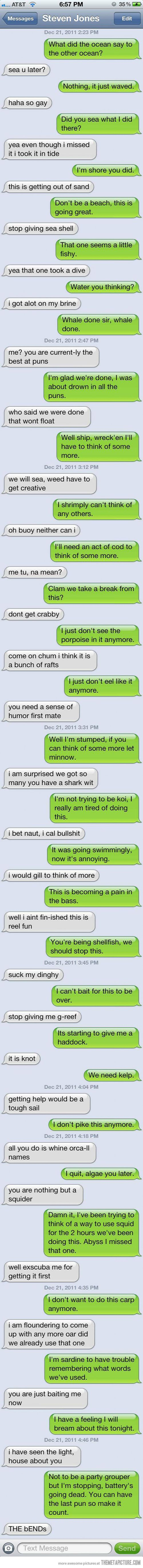 Text Puns---LOVE IT!!!!! I wish I were that witty!