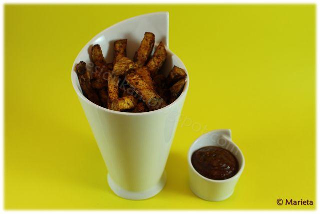 Yes, I Du-kan!: Falsas patatas fritas y salsa barbacoa Dukan