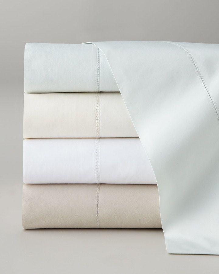 Pine Cone Hill Two Standard Classic Hemstitch 400TC Pillowcases
