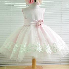 Kids First Birthday Dress, Girls Dress Skirt Child Princess Dress Flower Girl Pink Wizard