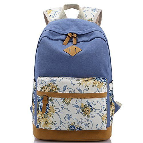 Alotpower Lightweight Large School Rucksack Backpacks Travel Bag For Girls Blue #Alotpower