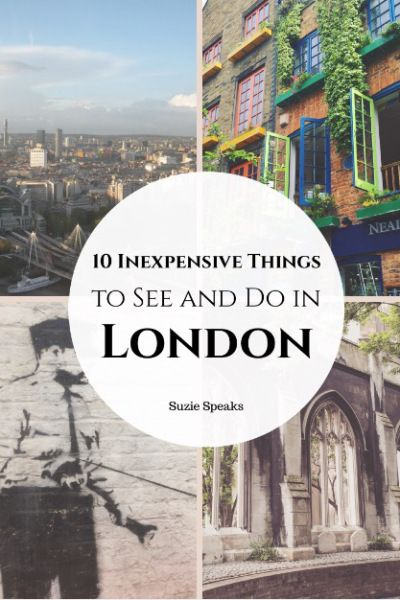 10 ideas for exploring London, without spending lots of money!