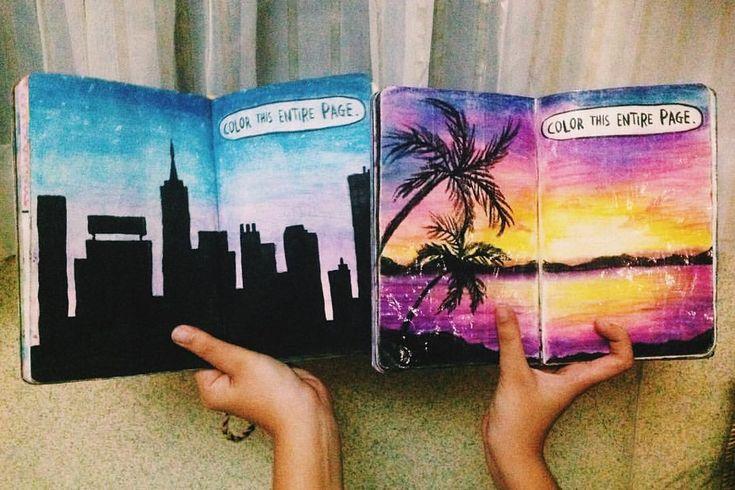 "323 Synes godt om, 5 kommentarer – emma (@emma.wtj) på Instagram: ""City or nature? Which one is better? ☺️ #wtj #wreckthisjournal #wreck #this #journal…"""