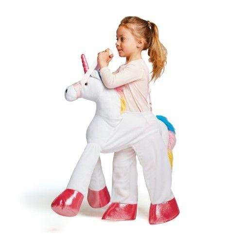 L 39 enfant se glisse dans ce d guisement de licorne r gle les bretelles c 39 est comme s 39 il montait - Deguisement minion fait maison ...