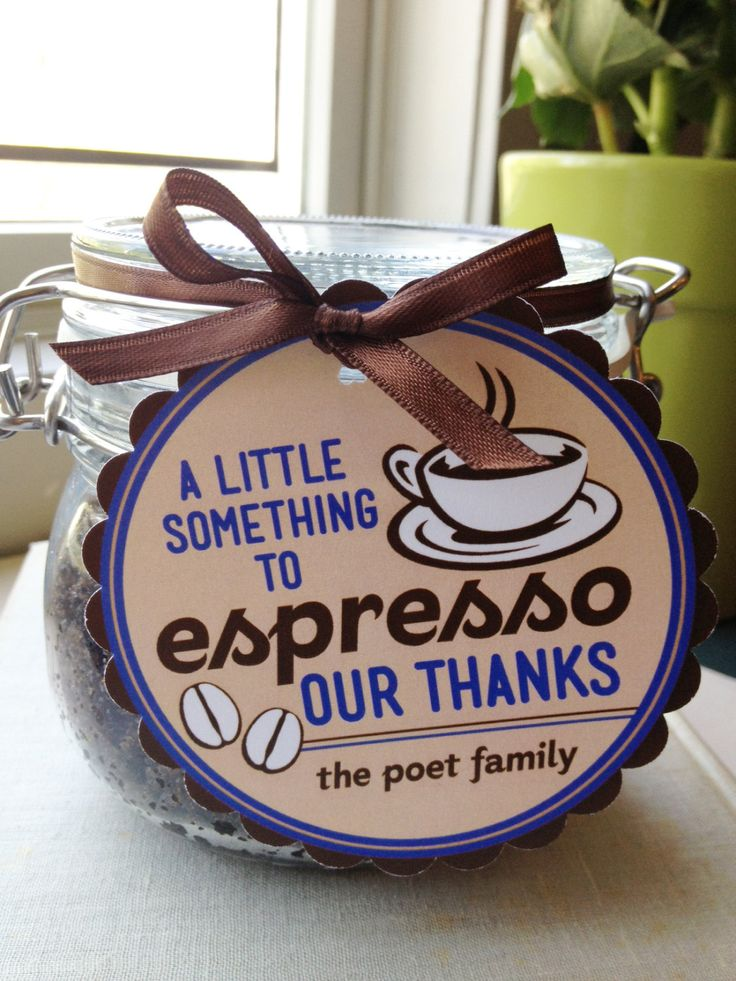 Teacher Appreciation or just a general Thank You Personalized ESPRESSO of Thanks Tags- Printable PDF. $4.25, via Etsy.