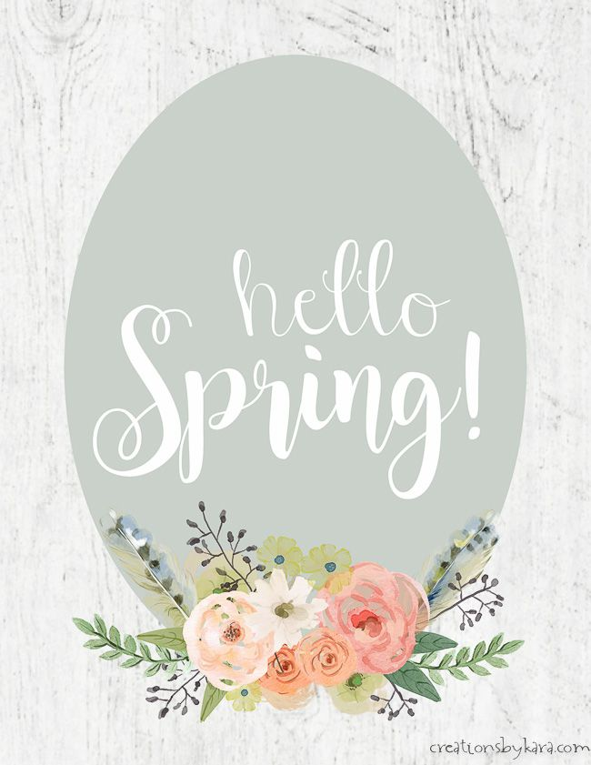 Hello Spring Printable Quick Spring Decor This Cute Hello Spring Sign Adds A Pop Of Color To A Hello Spring Sign Hello Spring Wallpaper Hello Spring Quotes
