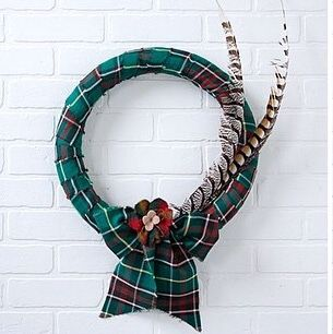 Check out the how-to video link in comment below. #tartan #tartanwreathDIY #NewfoundlandTartan