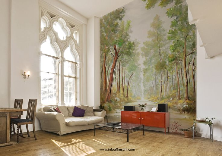 The perfect design for your living room. Find out our wonderful wallpapers and get   new ideas for home decorating and interior design. Affreschi&Affreschi, the style of your home!  #interiordesign #wallpaper #trompe #interior #wall #architecture #design #walldecor #frescoes #affreschi #fresques #frescos #art #mural #decoration #wallart #decorative