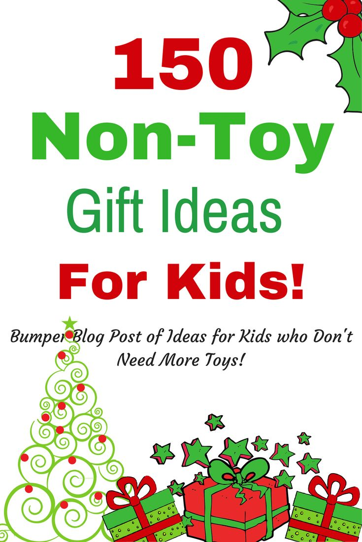 So I'm trying to come up with as many non-toy ideas as possible. I've categorised them into days outs, things to do, learning, books, clothes, bedroom. You name it, if it's non-toy, I've included it. Here we have 150 no toy gift ideas!