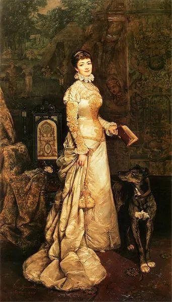 Portret Heleny Modrzejewskiej  Tadeusz Ajdukiewicz  Olej na płótnie. 262 x 146 cm. - 1880.   Muzeum Narodowe w Krakowie.
