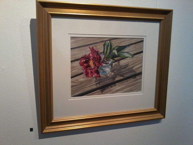 'Peony in Waterford Crystal' by Maeve Doherty