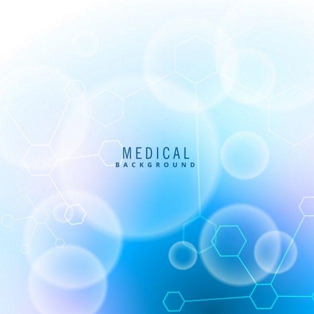 医療科学についてアメージングブルーの背景 無料ベクター