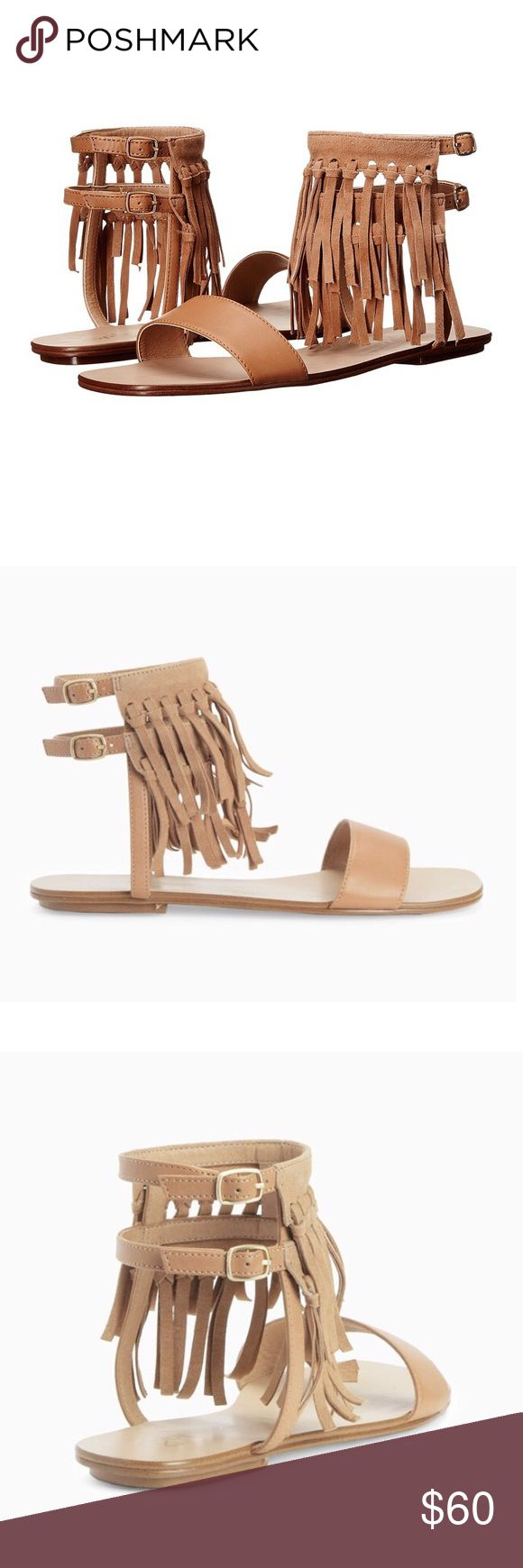 Splendid Fringe Sandals Splendid Fringe Sandals   Sizing: True to size.  - Open toe - Leather and suede construction - Fringe detail - Dual ankle straps with adjustable buckle closures - Imported -Retail $118  Materials: Leather upper, manmade sole  Brand new, never worn. No trades.  *please comment if looking for a size not listed. Splendid Shoes Sandals