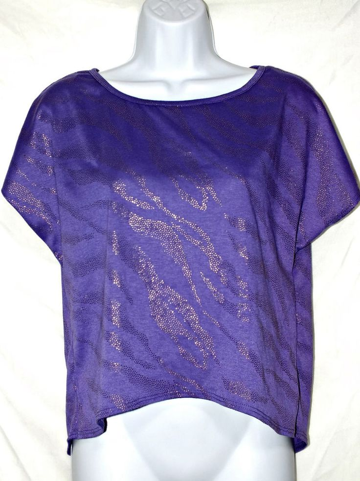 B-Wear Short Length Casual Purple Women's Top Blouse Shirt  Size S #Bwear #Blouse #Casual