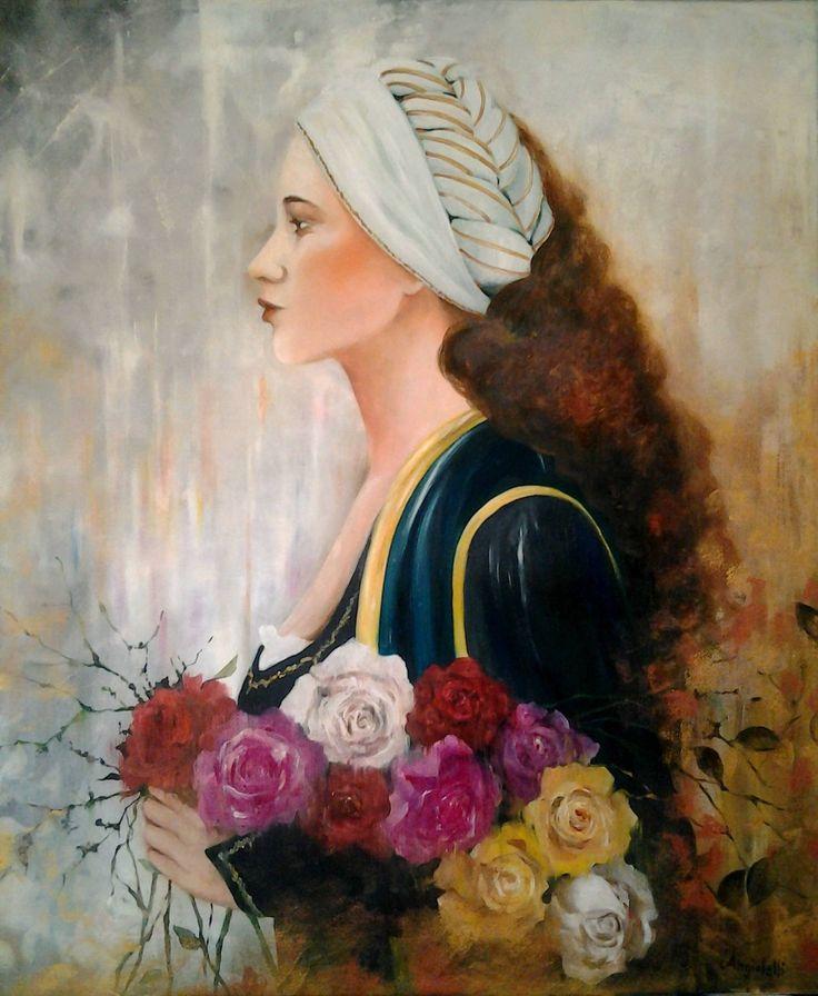 "Saatchi Art Artist: Anna Rita Angiolelli; Oil 2015 Painting ""Rinascimento italiano"""