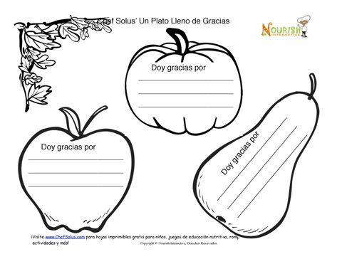 Thanksgiving-Dia de gracias-hoja de trabajo | Teaching Spanish ...