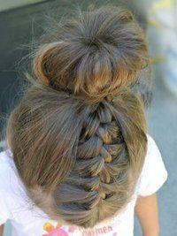 Bun Hairstyle For Little Girls