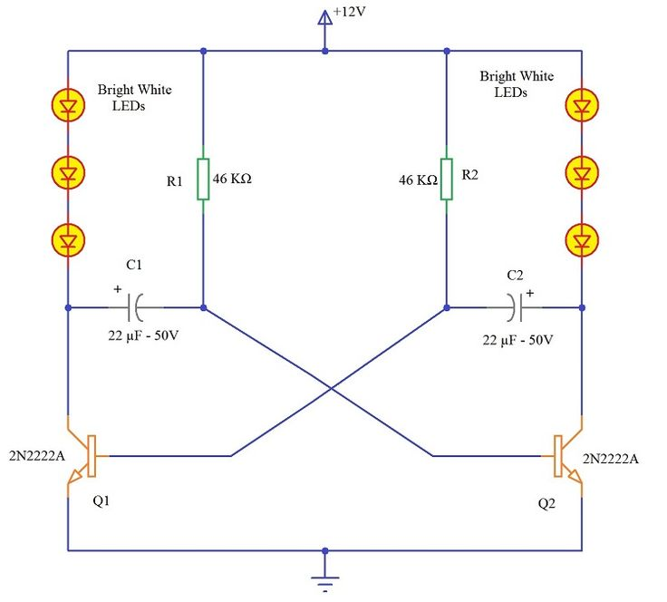 9 Led Knight Rider Circuit Wiring Diagram For Light Switch