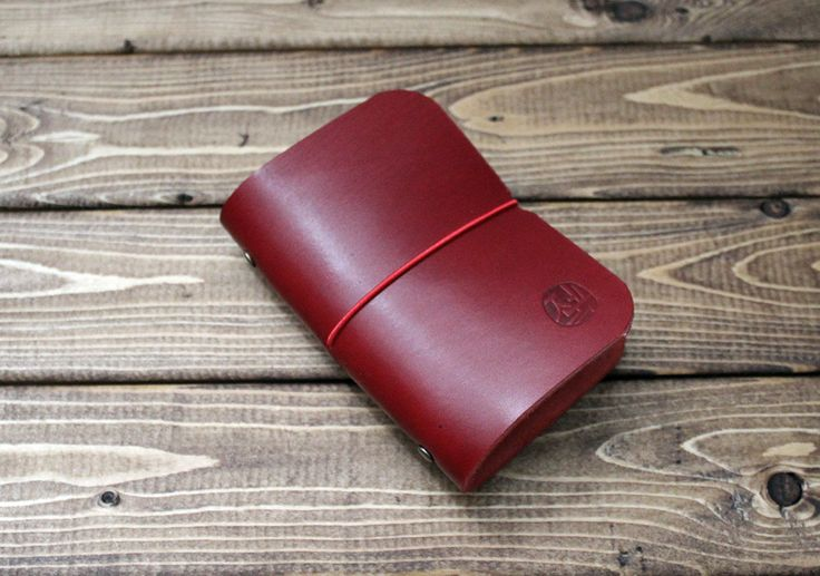 Credit Card Organizer / Holder with clear plastic windows in DARK RED by ZenokLeather on Etsy