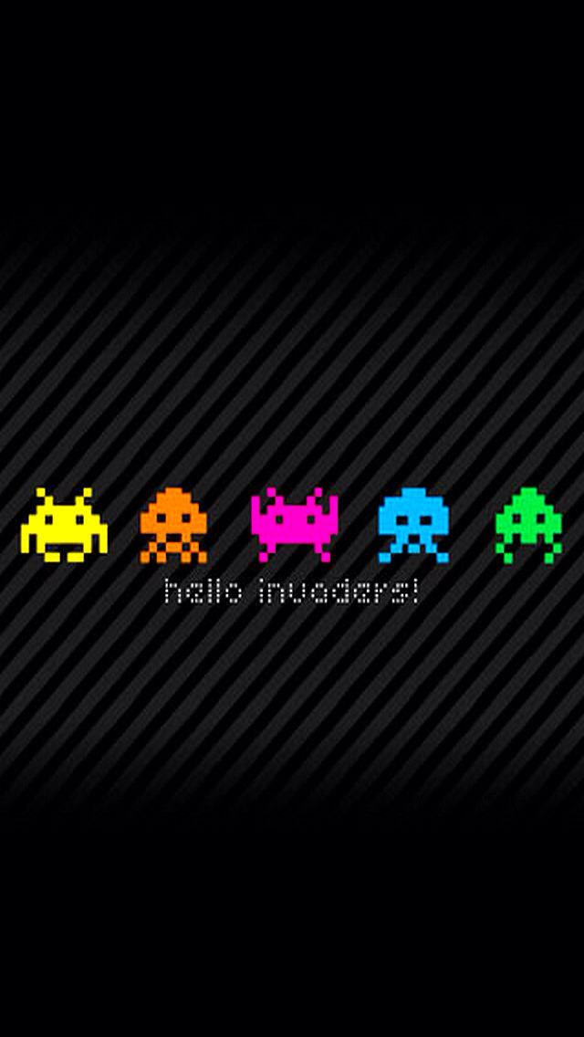 Space Invaders Iphone 5 Wallpaper