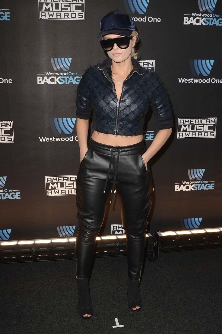 Bebe Rexha attends Westwood One Backstage at The American Music Awards