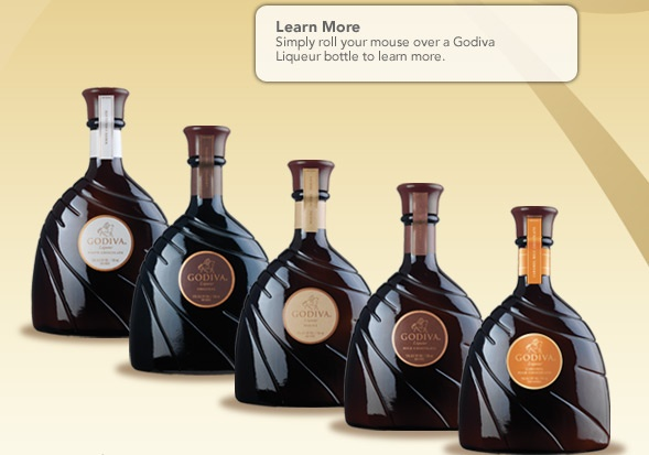 Godiva Chocolate Liqueur :   I have got to try these for my coffee since it is so hard to get my Bailey's Mint Chocolate