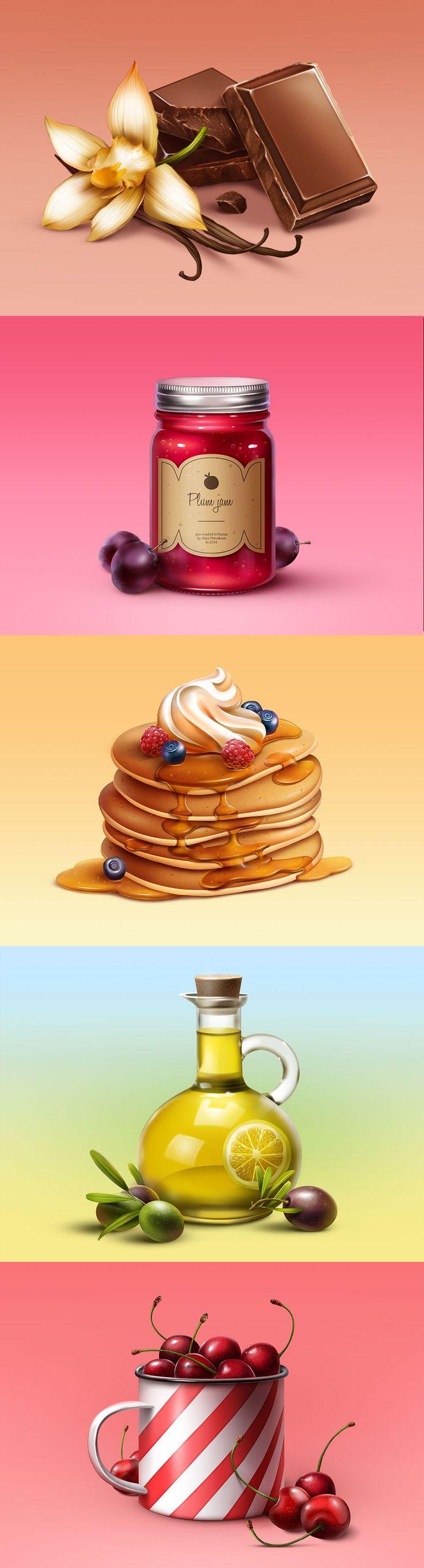 Иллюстрации еды, Illustration © АлияМанакова