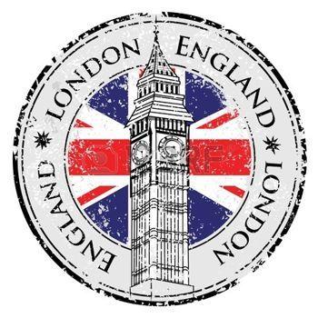 angleterre: Caoutchouc grunge timbre Londres Grande-Bretagne, Big Ben tour et vecteur de drapeau britannique