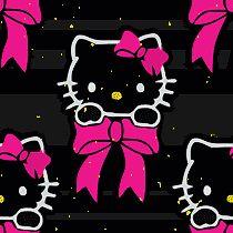 Hello Kitty Black Glitter Background Pink Black Hello