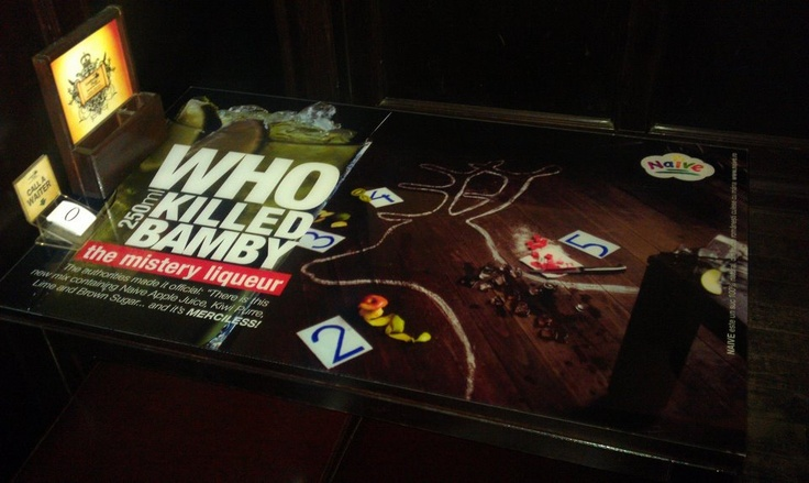 Who Killed Bamby Table.